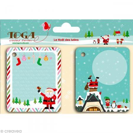 Etiqueta para regalo Navidad - La Navidad de los Duendes x 20 - Fotografía n°1