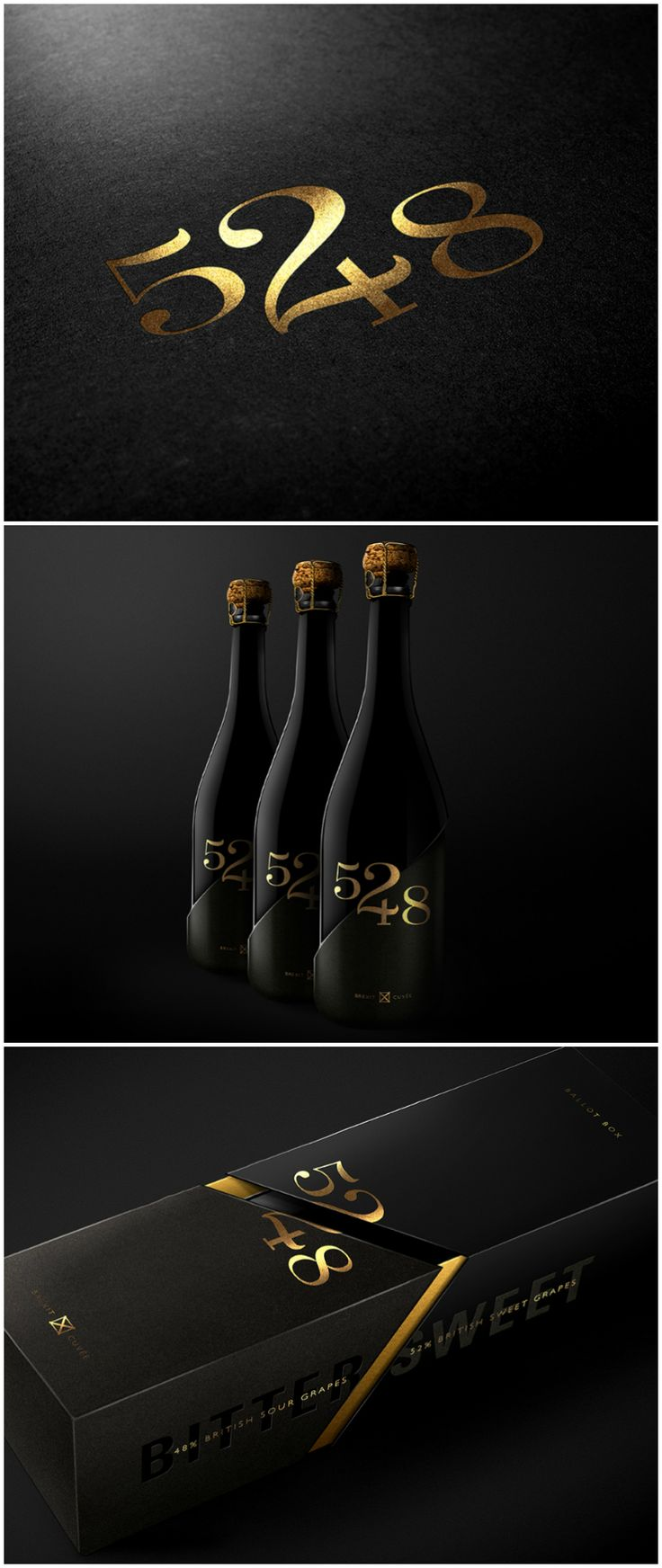 """OurCreative - Brexit #Wine #packaging ⠀ ⠀ ⠀ """"The prosecco is made with 48% British sour grapes and 52% sweet grapes to reflect the EU Referendum."""" World Packaging Design Society"""