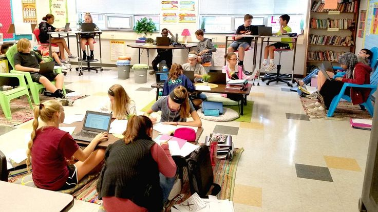 In her continuing efforts to improve her teaching, a middle school teacher moved from reworking the curriculum to updating her room.