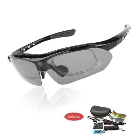 Professional Polarized Cycling UV Glasses With 5 Lens
