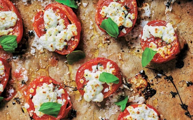 The juicy tomatoes moisten the bread as you cut into them, similar to a bruschetta.