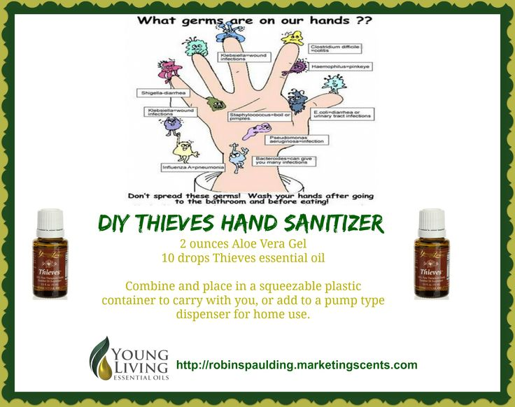 DIY Thieves Hand Sanitizer Young Living Essential Oils