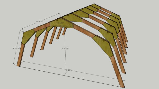 This Is A Group Of 6 Trusses For A 10x10 Gambrel Or Barn Style Shed Actual Dimensions Are 2 0 To Allow For M Barn Style Shed Roof Truss Design Roof Trusses