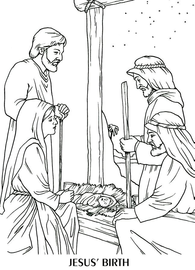 Jesus\' birth | Bible Coloring Time | Jesus coloring pages, Coloring ...