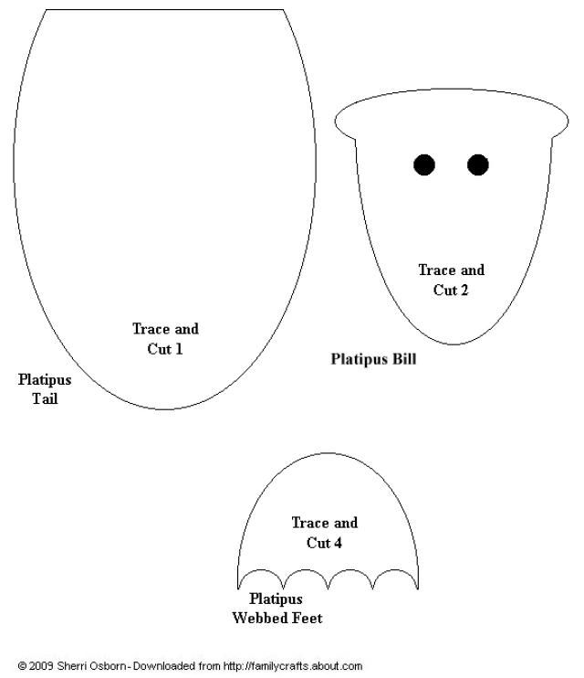 Paper Bag Platypus Templates: Print Out This Platypus Design