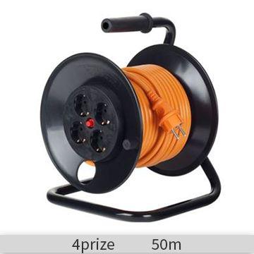 Derulator Starke 4 prize, 50 m, cablu 3x1,5, cu impamantare, ST00012