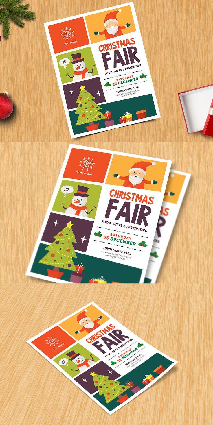 Christmas Fair Flyer Template AI, PSD