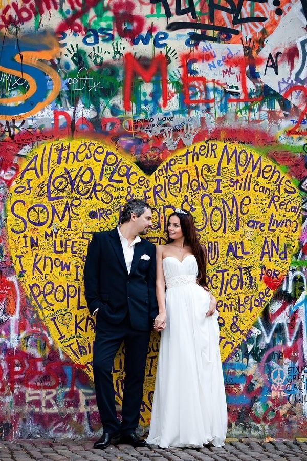Street Art Wedding in Prague