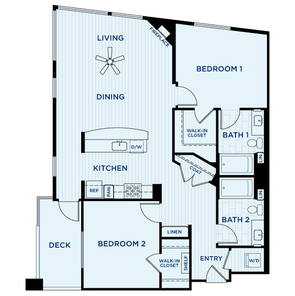 25 Best 1 Bedroom Floorplans Images On Pinterest Apartment Floor Plans Plan Plan And Compact