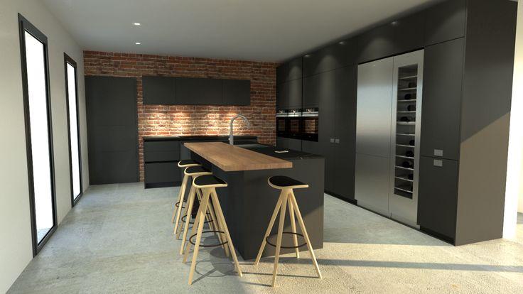 les 25 meilleures id es de la cat gorie cuisine gris anthracite sur pinterest murs de cuisine. Black Bedroom Furniture Sets. Home Design Ideas