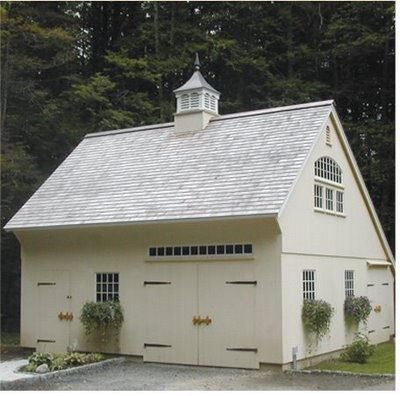 Saltbox Roof On Quaint Garage Cupola Strap Hinges On