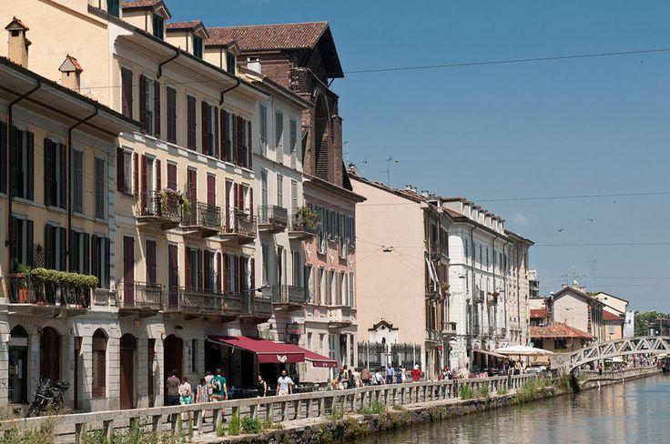 Il Naviglio Grande (Milano, Italy) #Milano #milan #Italy #naviglio #canale