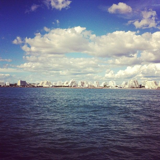 Just off the shores of #montpellier #france #sea #sky #blue