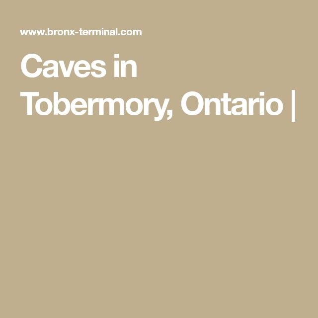 Caves in Tobermory, Ontario |