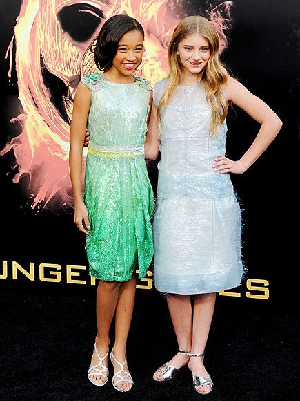 Amanda Stenberg (Rue) and Willow Shields (Primrose) Both of them are really pretty, and I love there dresses