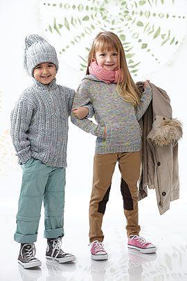 Einen lässigen Kinderpullover für Mädchen zu stricken ist ganz einfach: mit unserer Anleitung. Plus: Schnitt, Größentabelle für eine bessere Übersicht.  © Schachenmayr