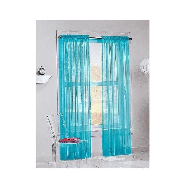 Calypso Rod Pocket Curtain Panel Blue / Sky ($9.99) ❤ liked on Polyvore featuring home, home decor, window treatments, curtains, rod pocket draperies, pole top curtains, rod pocket panel, rod pocket valance and blue curtain panels