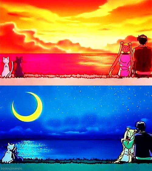 Sailor Moon S Movie: Hearts in Ice. Artmenis, Luna, Tsukino Usagi, and Chiba Mamoru. (Anime)