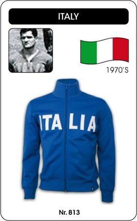 Italië voetbal jack jaren '70 (ITALIA) Italia Italy retro voetbal truitje football soccer vintage sport COPA