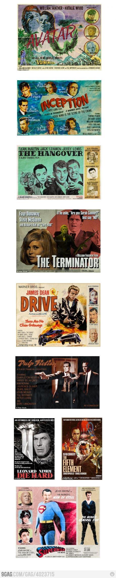 """""""Vintage"""" Movie Posters"""