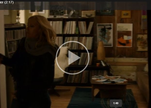 Toni Collette's apartment in Movie 'Lucky Them' - stacked with records, retro posters