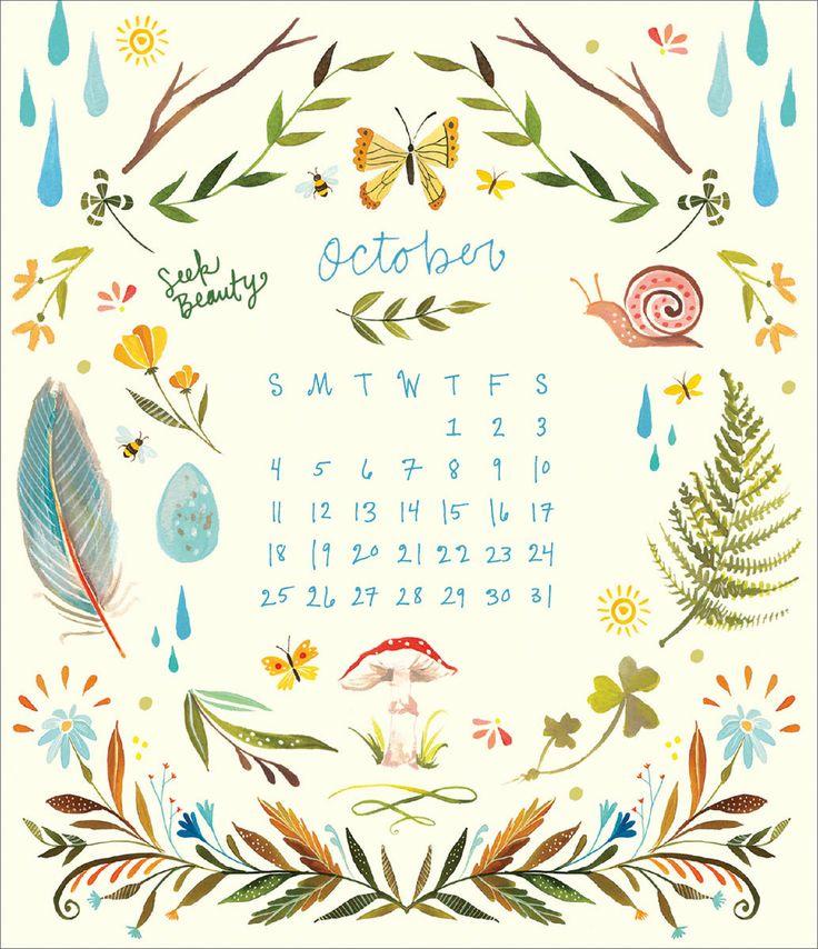 October Calendar Wallpaper Iphone : Images about katie daisy artwork on pinterest