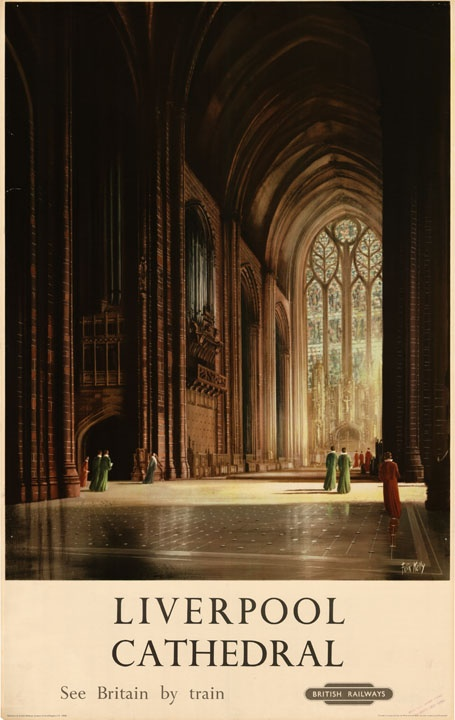 YES!! The Liverpool Anglican Cathedral. British railways travel poster.