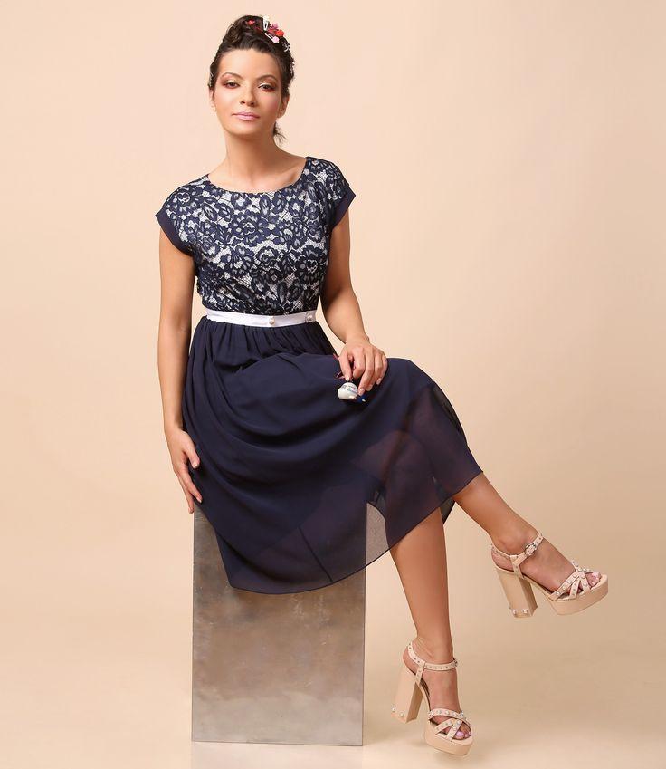Blue lace & pearls, PERFUME dress Summer 17 | YOKKO #dress #pearls #blue #weddingoutfit #summer 17 #eveningdress #fashion #style #beauty #madeinromania #yokko