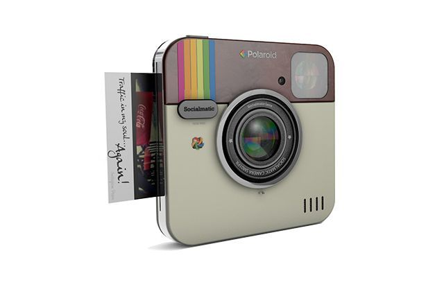 Very cool.  New Polaroid camera design based upon Instagram icon.