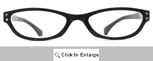 Tina Rhinestone Readers Glasses - 357 Black