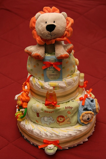 2009 01 17 Jungle Diaper Cake 002 Diapers Babies And