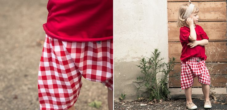 Red | White check #check #shorttrouser #kid #cuculab #SS15
