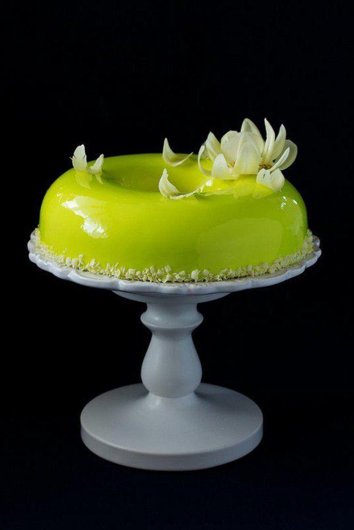 glaçage miroir vert néon