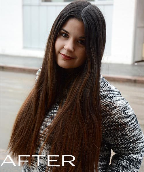 Beautiful long dark hair coloured with Light Chocolate Brown from NATURIGIN <3