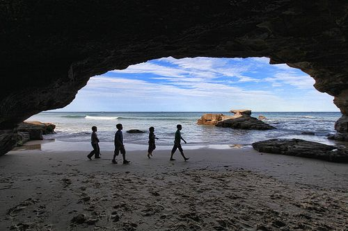 Historical Caves, located at the Northern end of Caves Beach, NSW