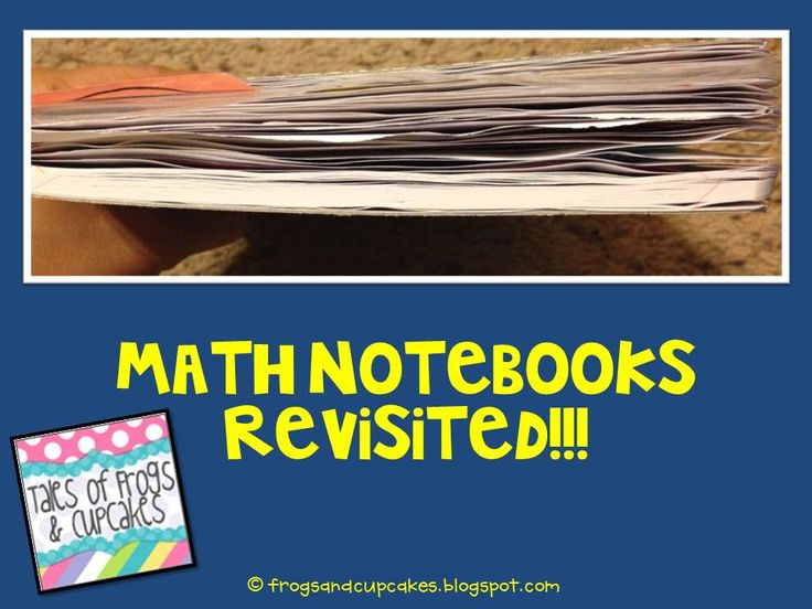 Tales of Frogs and Cupcakes: Math Notebooks REVISITED!!