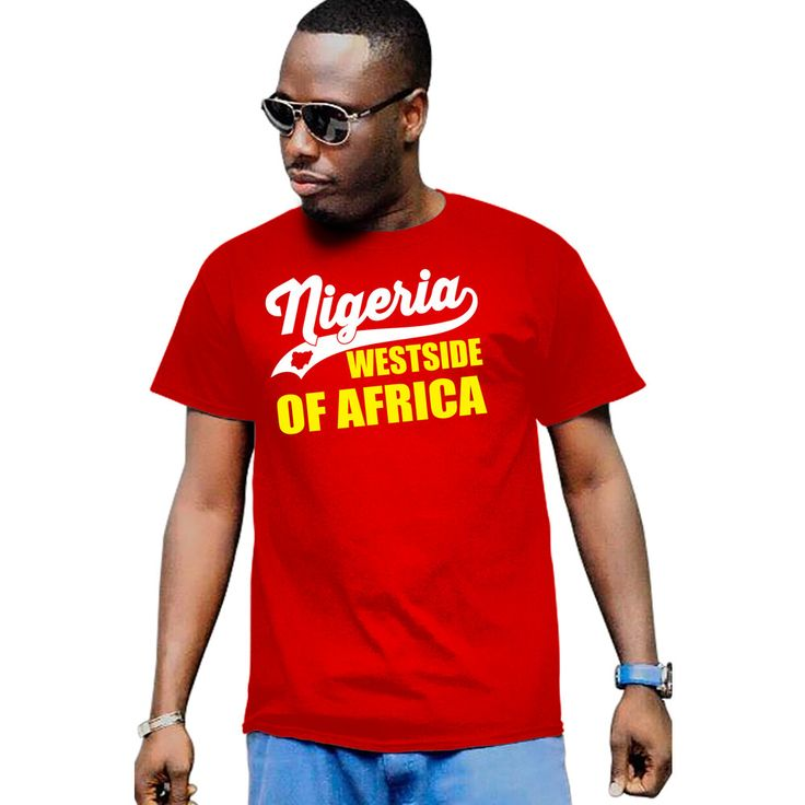 Men's I Love Nigeria Flag Map Nigerian Legend Pride Africa Map T-Shirt by Calidreamers on Etsy
