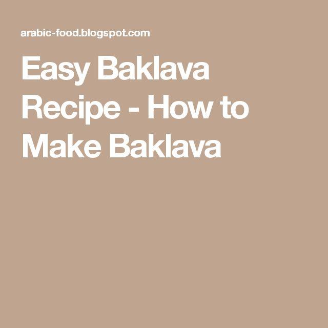 Easy Baklava Recipe - How to Make Baklava