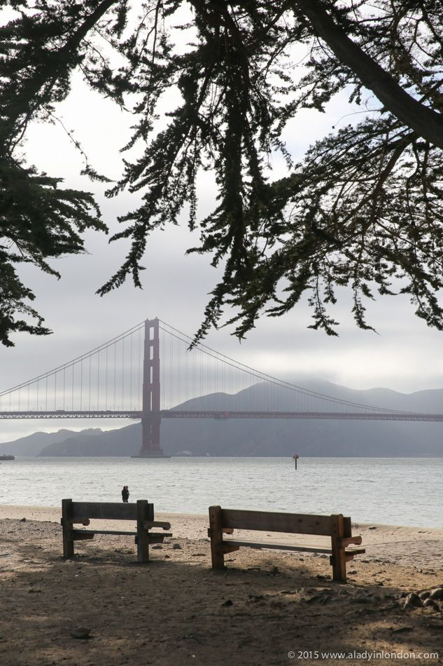 How to do summer in San Francisco! The city can be surprisingly foggy in the summer, as evidenced by this photo of the Golden Gate Bridge in July.