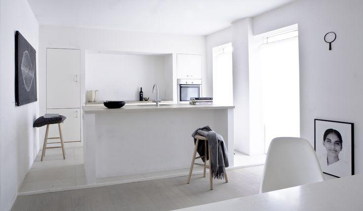 mulighet for gulv og benk, kjøkken