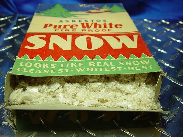 Vintage Box Of Asbestos Quot Snow Quot Decoration Happy