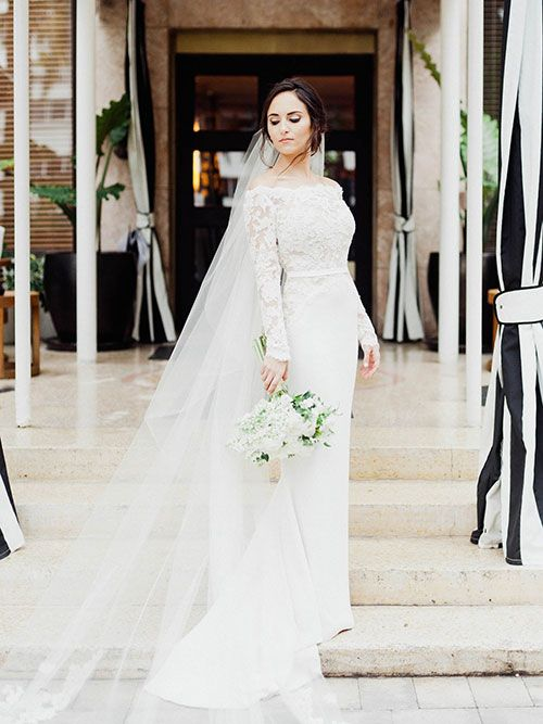 27 best a starry chic wedding featured in brides at for Wedding dresses miami florida