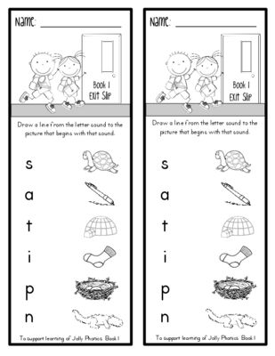 Exit Slips for Phonics Formative Assessment