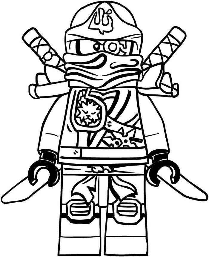 Lego Ninjago Coloring Pages Printable Coloriage Ninjago