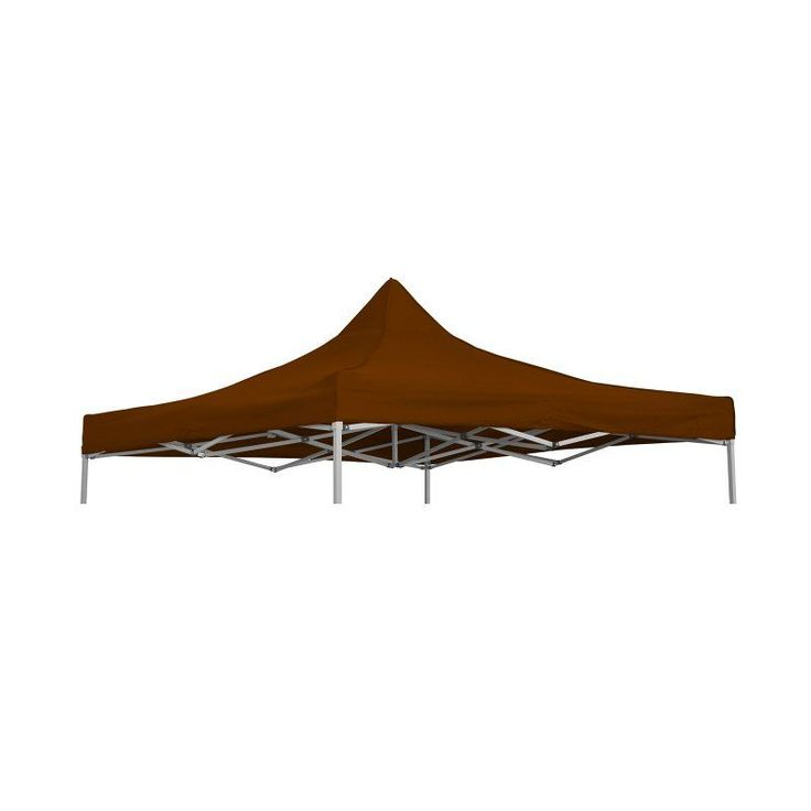 Trademark Innovations 9.6 x 9.6 ft. Square Replacement Canopy Gazebo Top Brown - TOP-TEN-BR