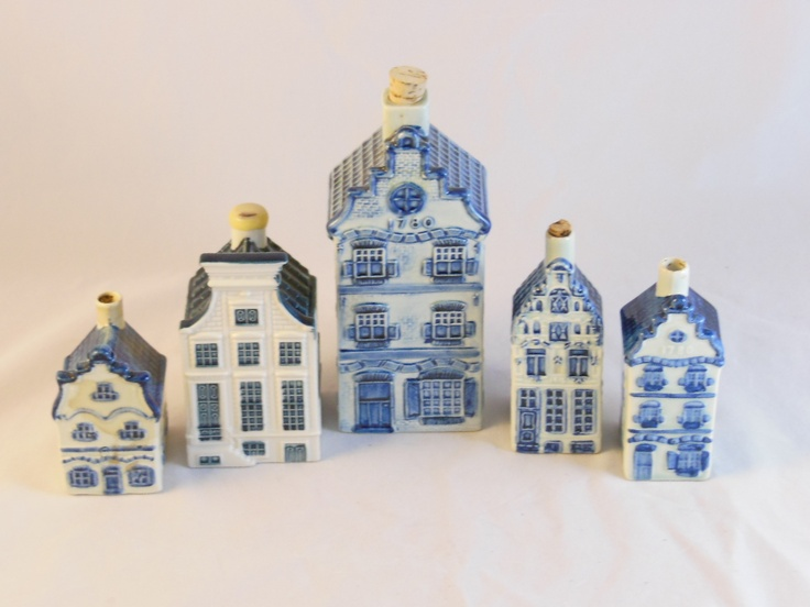 5 Delft Blue Houses P Hoppe Royal Blue Delft Klm Small