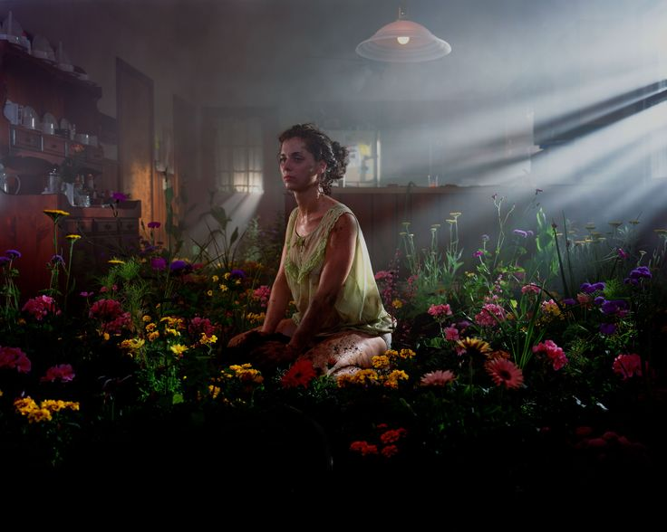 Gregory Crewdson  | Untitled (Woman in Flowers) 1998