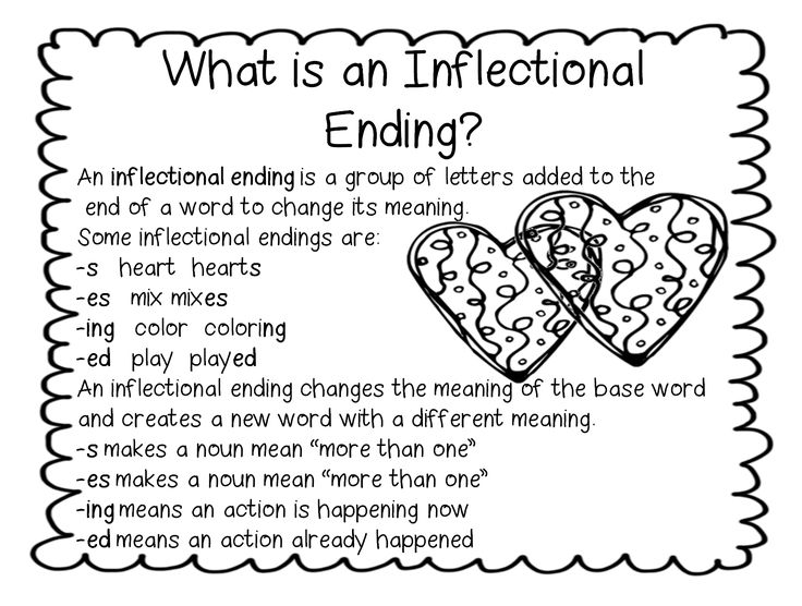 Inflectional Endings (from First Grade Wow)