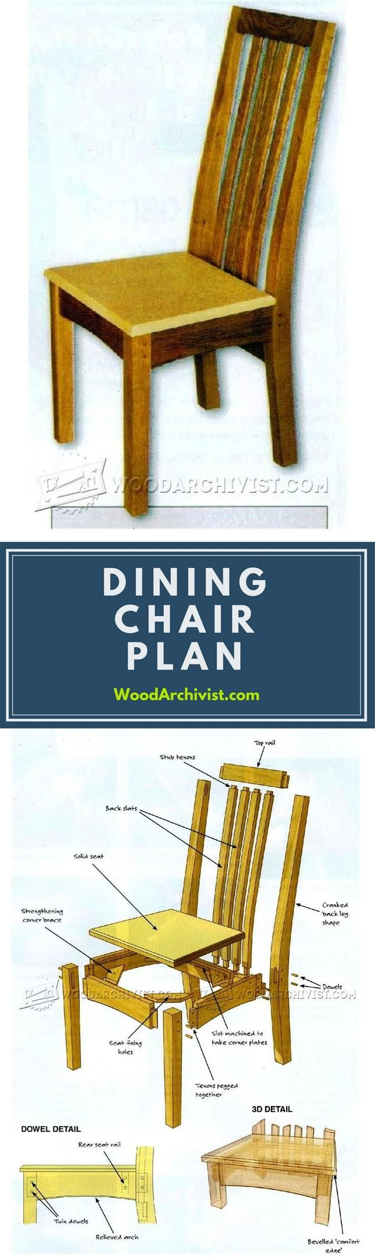 Oak Dining Chairs  Plans - Furniture Plans and Projects | WoodArchivist.com