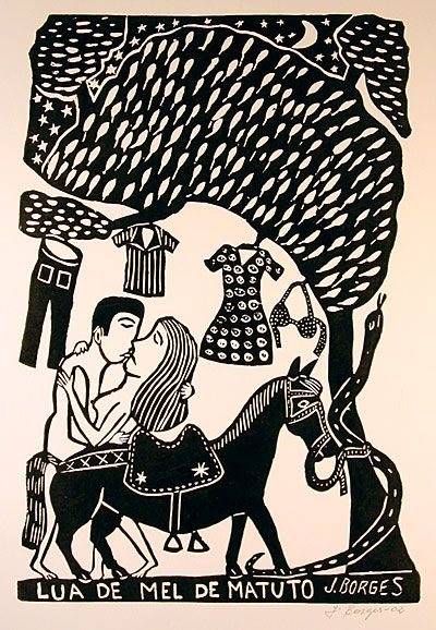 """Borges captures the most simple of  rural daily life in """"Matuto's Honeymoon."""" Indigo Arts Gallery 